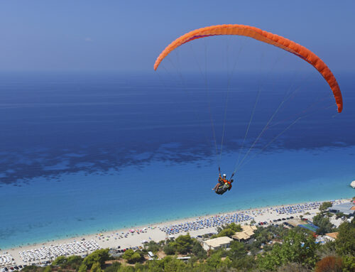 Paragliding at Kathisma beach